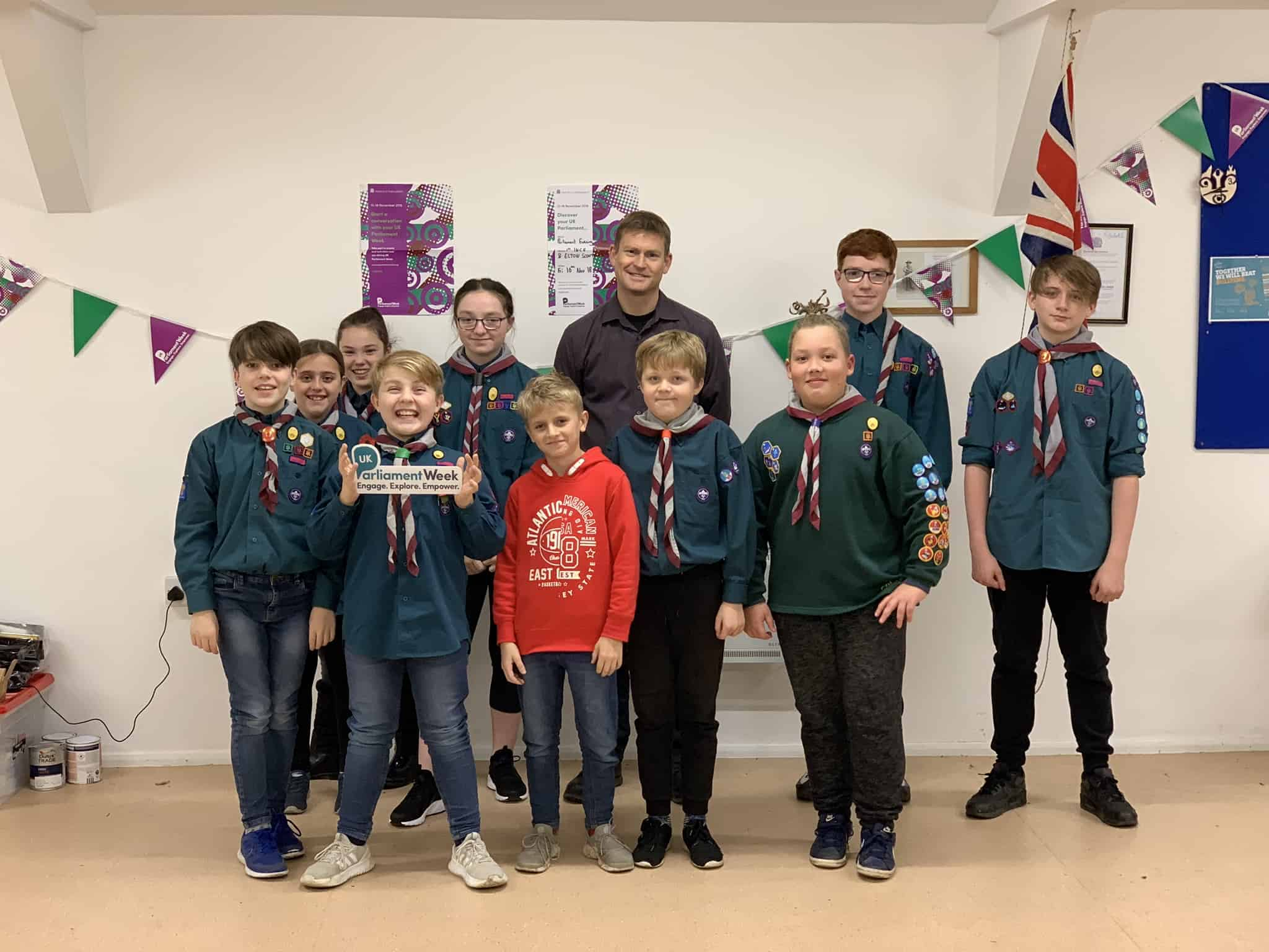 Scouts join in UK Parliament Week!